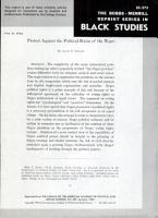The Bobbs Merrill Reprint Series in Black Studies PDF