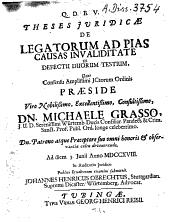 Theses Iuridicae De Legatorum Ad Pias Causas Invaliditate Ex Defectu Duorum Testium