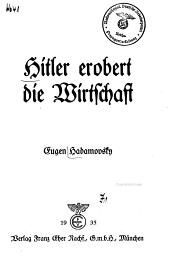 Hitler erobert die Wirtschaft PDF