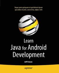 Learn Java For Android Development Book PDF