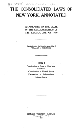 McKinney's Consolidated Laws of New York Annotated: Book 2