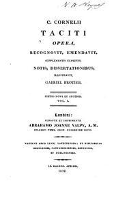 Opera: Annalium, libri I-VI
