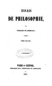 Essais de philosophie: De la physiologie intellectuelle. Du jugement. De la matière. De l'esprit. Des causes du scepticisme
