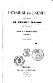 Pensieri ed esempi opera postuma di Cesare Balbo