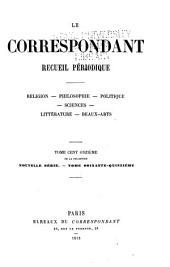 Le Correspondant: Volume111
