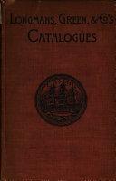 Longmans  Green   Co  s Catalogues PDF