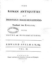 The Roman Antiquities of Dionysius Halicarnassensis: Volume 3
