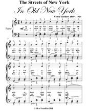Streets of New York Easy Piano Sheet Music