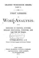 Word-analysis: First Lessons