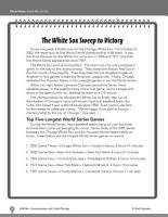 Test Prep Level 6  The White Sox Comprehension and Critical Thinking PDF
