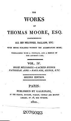 Irish melodies  Sacred songs  National airs  Ballads  songs  etc PDF