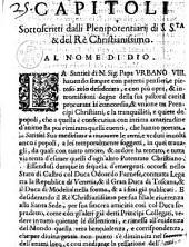 Capitoli sottoscritti dalli plenipotentiarij di S.S.ta & del rè christianissimo. ..
