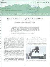 How to build and use a light table camera mount