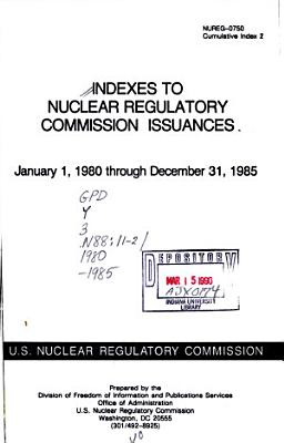 Indexes to Nuclear Regulatory Commission Issuances PDF