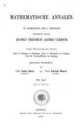 Mathematische Annalen: Volume 13