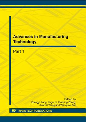 Advances in Manufacturing Technology PDF
