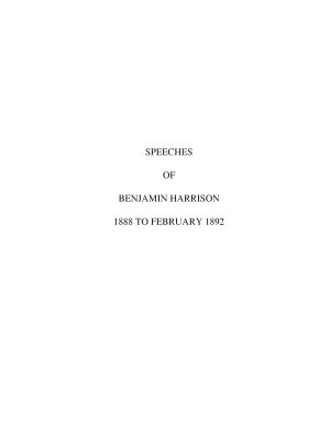 Speeches of Benjamin Harrison  twenty third President of the United States  a complete collection of his public addresses from February 1888  to February  1892     PDF