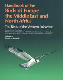 Handbook Of The Birds Of Europe The Middle East And North Africa Book PDF