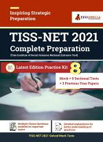 TISS NET 2021 | 8 Full-length Mock Tests + 9 Sectional Tests + 3 Previous year papers | Complete Practice Kit