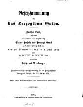 Gesetzsammlung für das Herzogthum Gotha: 1862/65, 26. Dez. - 3. Juli