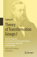Theory of Transformation Groups I