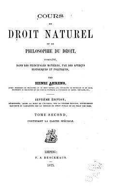 Cours de droit naturel PDF