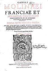 Opera, quae extant omnia: Volume 1