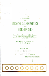 A compilation of the messages and papers of the presidents: Volume 8