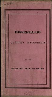 Dissertatio juridica inauguralis, de hereditatis divisione ab adscendentibus facta inter descendentes
