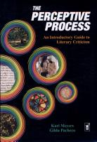 The Perceptive Process  a Introductory Guide to Literary Criticism PDF