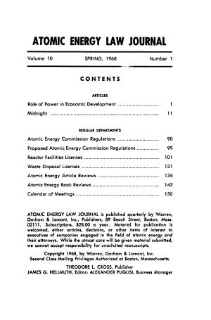 Atomic Energy Law Journal PDF