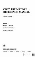 Cost Estimator s Reference Manual PDF