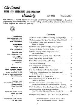 The Cornell Hotel and Restaurant Administration Quarterly PDF