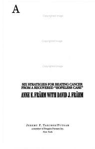 A Cancer Battle Plan Book