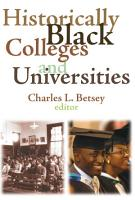 Historically Black Colleges and Universities PDF