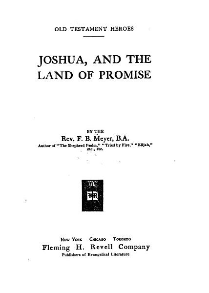 Download Joshua  and the Land of Promise Book