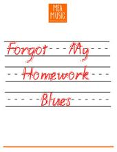 Forgot My Homework Blues: Easy Piano Piano Solo