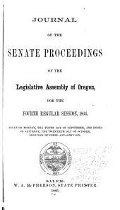 Journal of the Proceedings of the Senate of the Legislative Assembly of Oregon