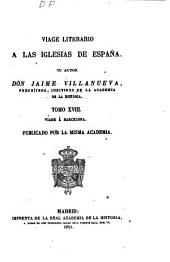 Viage literario á las iglesias de España: Vique y Solsona. 1821