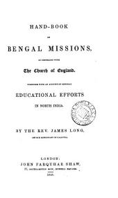 Hand-book of Bengal missions, in connexion with the Church of England [&c.].