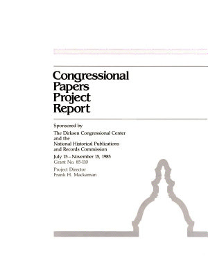 Congressional Papers Project Report PDF