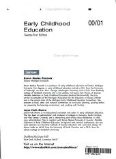 Early Childhood Education 2000 2001 PDF