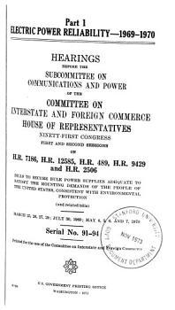 Electric Power Reliability  1969 1970 PDF