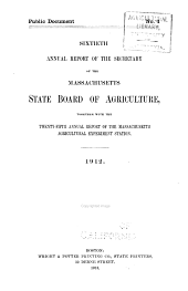 Annual Report of the Secretary of the Massachusetts State Board of Agriculture: Volume 60, Part 1912