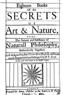 Eighteen Books of the Secrets of Art & Nature