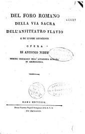 Del Foro romano, della Via sacra, dell'Anfiteatro flavio, e de' luoghi adjacenti