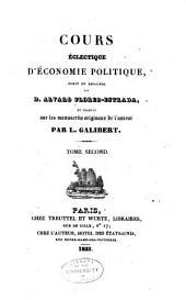 Cours électique d'économie politique: Volume2