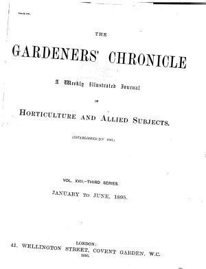 The Gardeners  Chronicle PDF