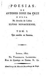 Poesias: na Arcadia de Lisboa, Elpino Nonacriense, Volume 1