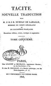 Tacite: Histoires. Moeurs des Germains. Vie d'Agricola. Dialogue sur les orateurs